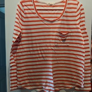 Long Sleeved Striped Tee